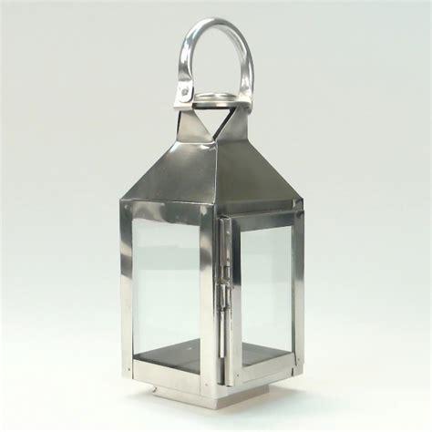 Chrome Candle Lantern Modern Nuveau Square Chrome Candle Lantern