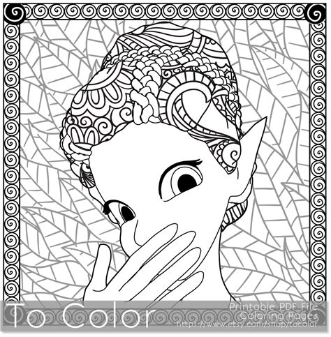 coloring pages for grown ups pdf retro girl pixie fairy printable coloring pages for