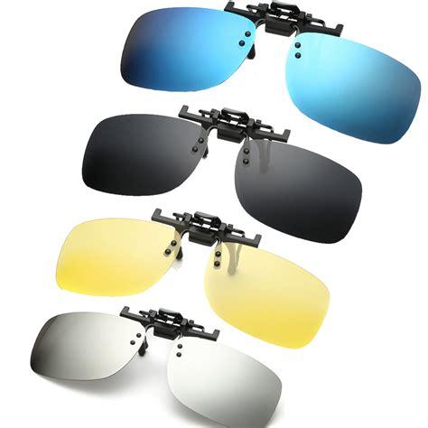 Clip On Square Sunglasses polarized clip on sunglasses clip on glasses square