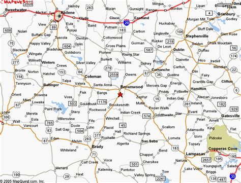 central texas road map maps to field