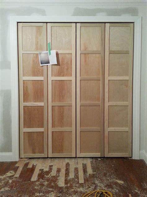 paneled bi fold closet door diy diy for the home diy closet doors diy door closet door