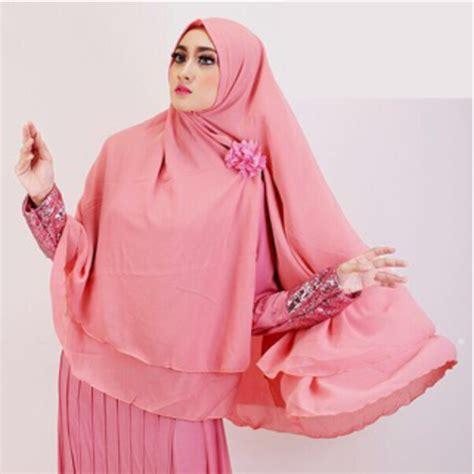 Jilbab Instan Ceruti Pendek Jual Khimar Jilbab Ceruti Jumbo Instan 2 Layer