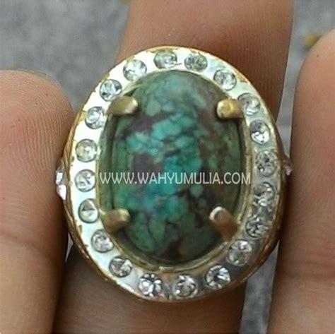Batu Akik Phirus batu cincin phirus turqoise kode 345 wahyu mulia