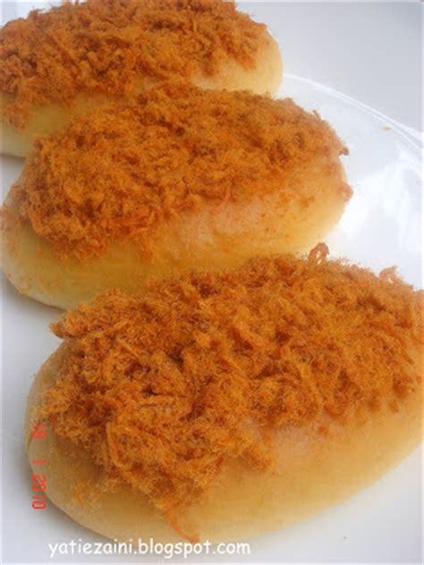 membuat roti chicken floss ixora ii my spicy chicken floss bread