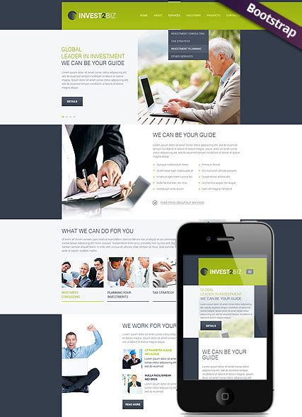 bootstrap templates for business business bootstrap template id 300111785