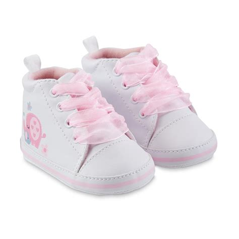 shopping for baby shoes gerber baby s white pink elephant lace up sneaker