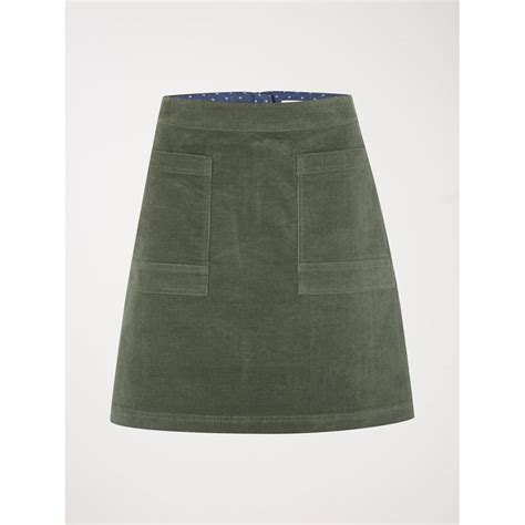 white stuff womens coffee cord skirt in spinach green parkinsons lifestyle