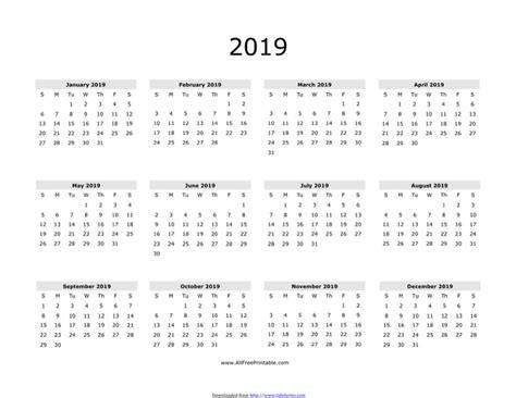 new year 2019 calendar 2019 yearly calendar 3 for free tidyform