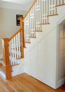 Bungalow Stairs Design A Craftsman Style Bungalow Makeover In Maine By Sopo Cottage Bungalow Banisters And White Paints