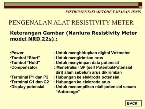 Geolistrik Resistivity Meter Naniura Nrd 300 bahan mengajar geolistrik 2013