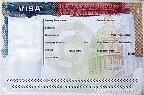 Applying For A Visa To America With A Criminal Record Passport With Usa Visa Stock Photo Image 46309667