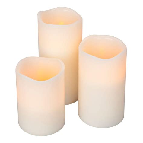 Colored Flameless Candles With Timer by Home Accents Flameless Timer Pillar Bisque Color