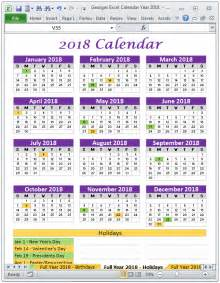 Senegal Kalendar 2018 Georges Excel Calendar Year 2018 Products