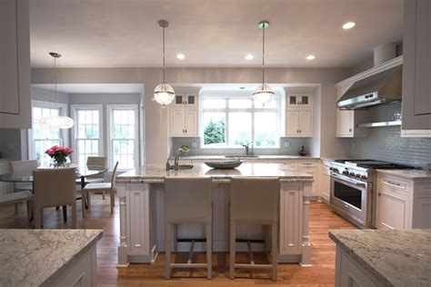 modern traditional kitchen ideas white cabs gray counters forgot about the flooring