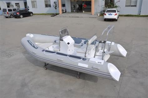 pvc inflatable fishing boat pvc small inflatable fishing boats rib430 light grey with