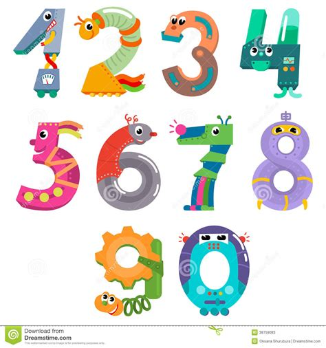 numeri clipart numbers like robots stock vector illustration of