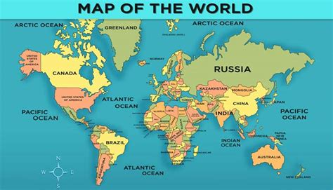 illustration of world map with country name world map with countries general knowledge for mocomi