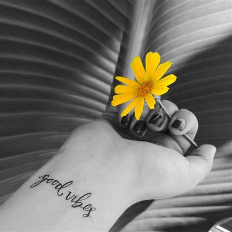 good vibes tattoo inked by temporary tattoos vibes