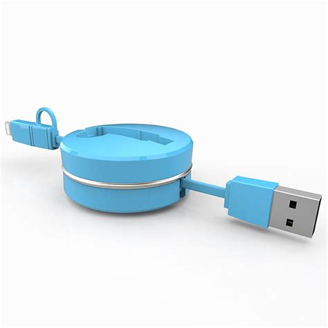 Micro Usb Retractable Data Cable For Iphone And Smartphone Usb Pc Data retractable 2 in 1 micro usb lightning data sync charger