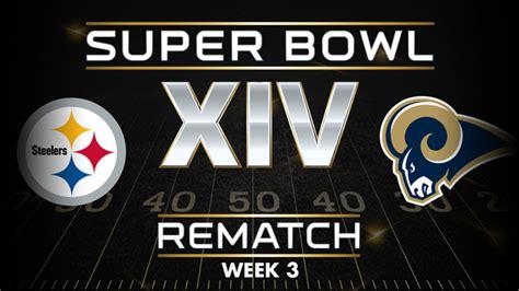 rams steelers bowl bowl rematch steelers vs rams nfl