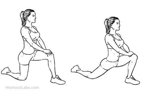 printable hip flexor stretches kneeling hip flexor stretch workoutlabs