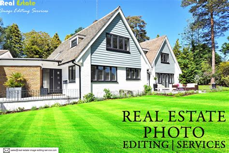 real estate property photo editing services and image