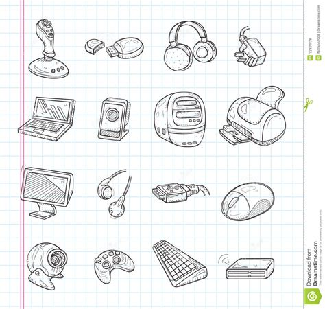 doodle pc doodle computer icons royalty free stock photos image