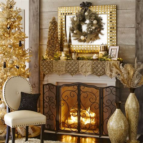 fireplace mantle scarf beaded metallic mantel scarf fireplace looks