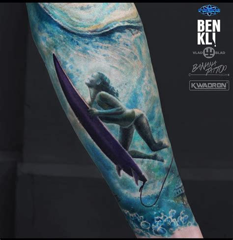 surfboard tattoo designs surfing duck diving best design ideas
