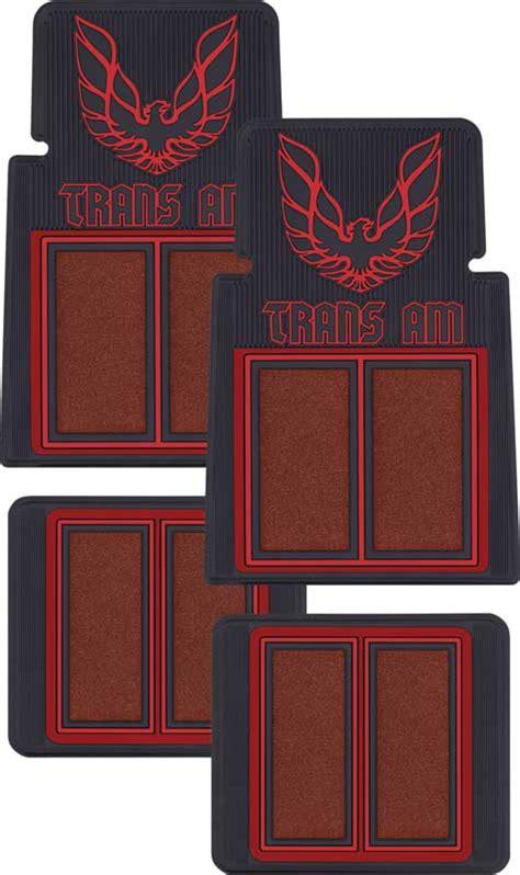 Trans Am Floor Mats by Firebird Parts F74002 Trans Am Logo Carpeted Rubber