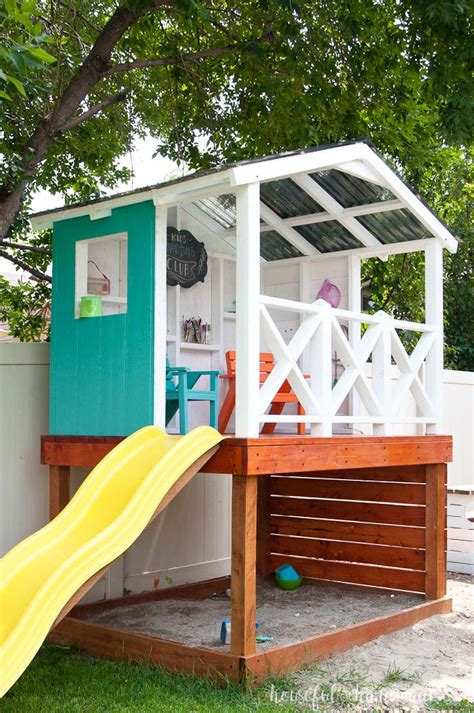 build backyard playhouse how to build an outdoor playhouse for kids a houseful of