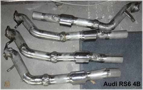 Audi Rs6 Downpipe by Lspeed Racing Downpipe 3 Zoll Rs6 4b