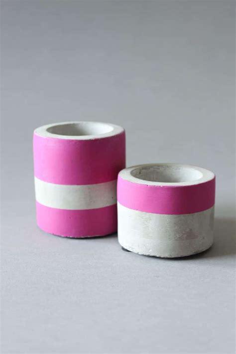 kerzenhalter beton diy beton kerzenhalter streichen handmade kultur