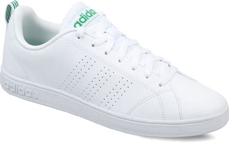 Adidas Neo Advantage Cleans Whitewhitegreen Original adidas neo advantage clean vs sneakers for buy ftwwht ftwwht green color adidas neo