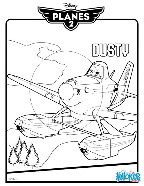 Dusty Coloring Page of dusty from cars coloring pages coloring pages