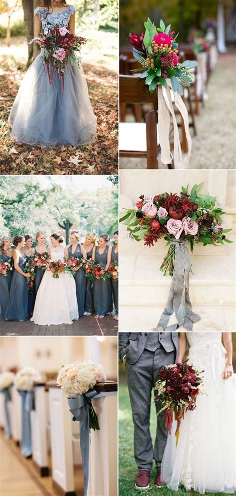 Burgundy And Grey Wedding Decorations Pictures to Pin on