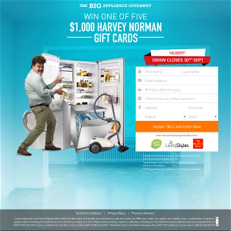 Harvey Norman Gift Cards - stuff you want win a harvey norman gift card competitions com au