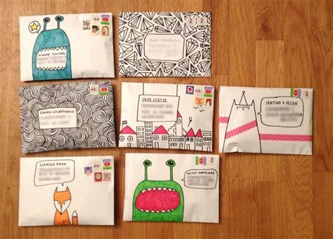 Decoration Enveloppe by Envelope Decoration Ideas Snail Mail