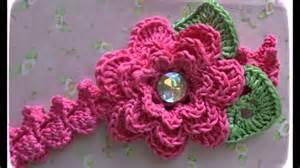 flores de crochet vinchas con flores tejidas a crochet youtube