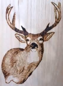 deer wood burning patterns