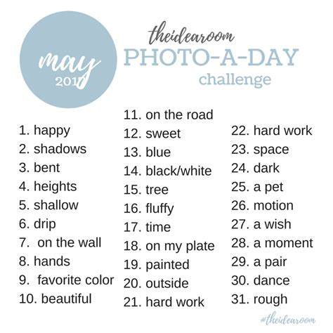 photos for day may photo a day photo challenge 2017 instagram