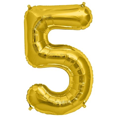 Number Balloon happy teapot balloon no 5 golden foil