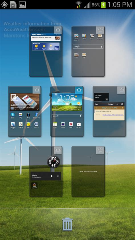 how to add and arrange home screens on the galaxy s3