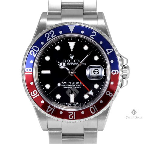 Rolex Gmt Master Ii Silver Lis Black s rolex gmt master ii stainless steel blue and black 24hr bezel oyster band
