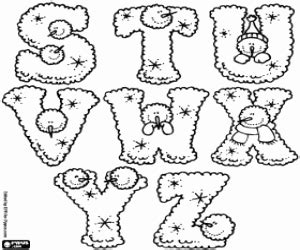 printable winter alphabet letters winter alphabet coloring pages printable games
