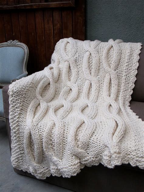 Shabby Chic Throws Large Cable Knit Throw Shabby Chic Throw Homelosophy