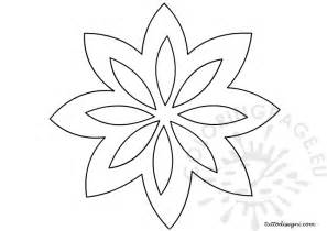 flower stencil coloring page