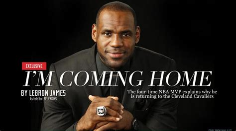 lebron i m coming home reactions
