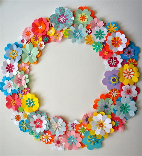 Flowers From Paper - ideas from the forest wreath of paper flowers