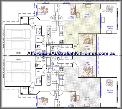 Free Duplex House Plans Free Duplex Blueprints And Plans Studio Design Gallery Best Design